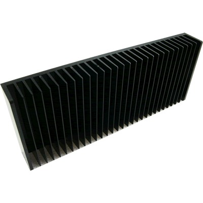 Anodised heat sink heater Black 300x120x40