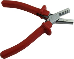 Crimping tool for cable ends from 1.5 to 6mm²