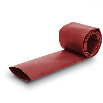 Gaine Thermo Rétractable 3:1 Ø6.4mm Longueur 1m (Rouge)