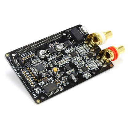 AUDIOPHONICS DAC I-Sabre ES9038Q2M Raspberry Pi / I2S & SPDIF / PCM DSD Alimentation Micro USB