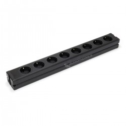 DIY Aluminum Power Strip 8 Schuko Sockets Black