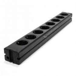 Multiprise DIY aluminium 8 ports Schuko