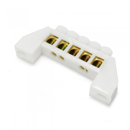 Domino Isolé 5 Ports Ø6,5mm