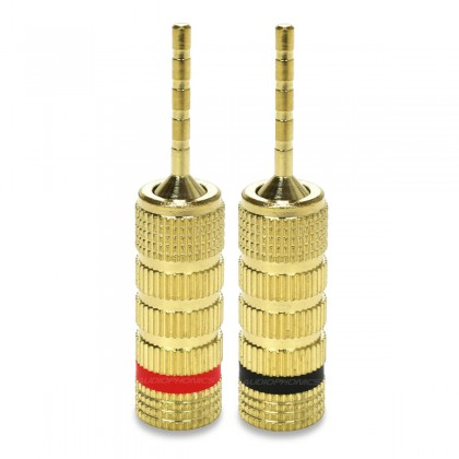 Gold plated Reducers for speakers cable 2mm (Set x10)