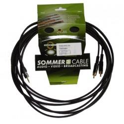 SOMMERCABLE ONYX Câble de Modulation JACK 3,5mm - 2 RCA 0.25m