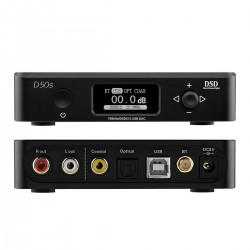 TOPPING D50S DAC 2x ES9038Q2M XMOS U208 Bluetooth 5.0 LDAC 32bit 768kHz DSD512 Noir