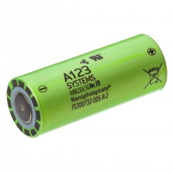 A123 SYSTEMS Rechargeable Battery LifePO4 26650 3.3V 2500mAh (Unit)