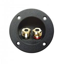 ATOHM WT-D75-G Bornier Encastré pour Enceintes Plaqué Or Ø75mm