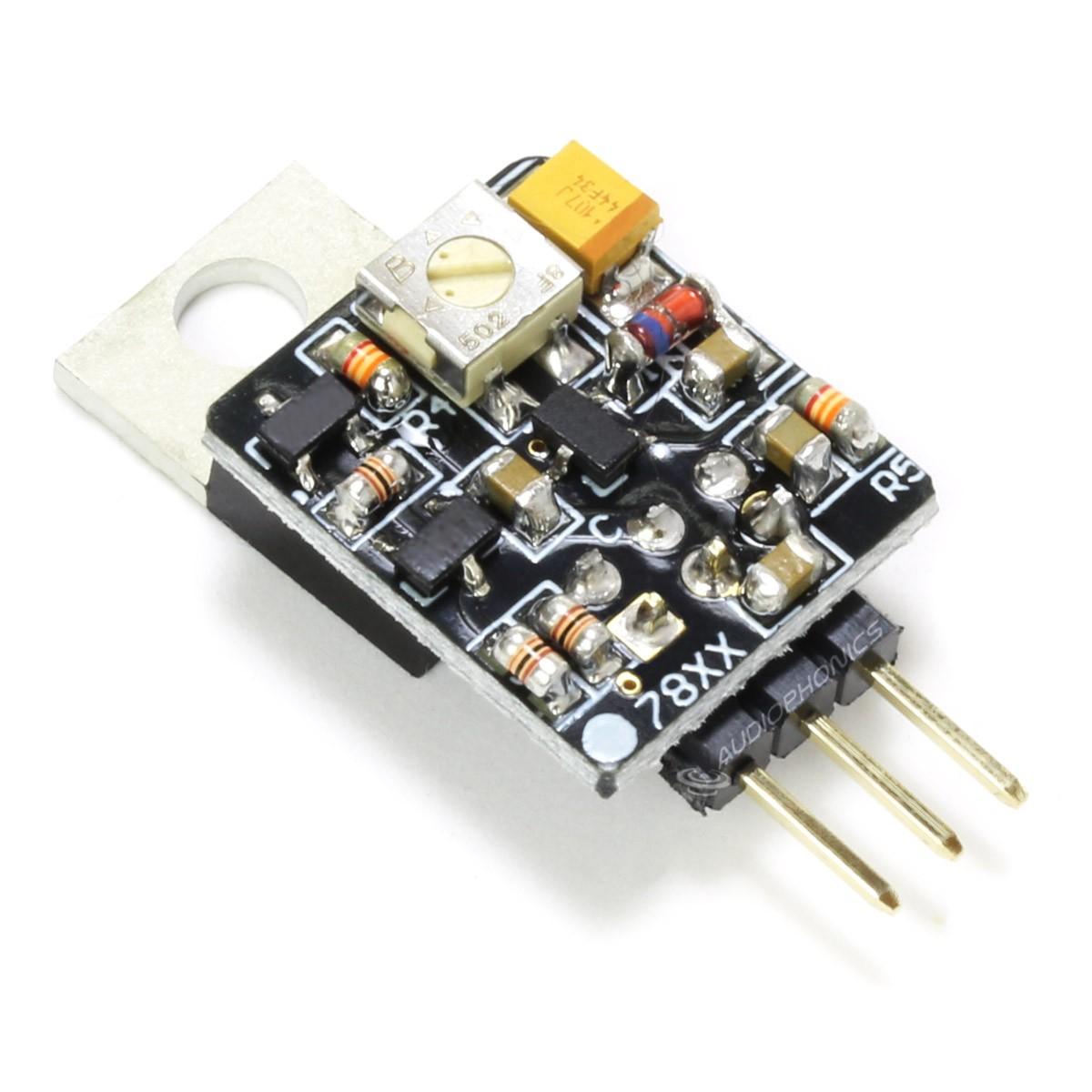 Adjustable Discrete Voltage Regulator LM7805 +5V / +12V
