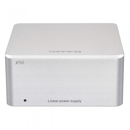 TOPPING P50 Regulated Linear Power Supply Ultra Low Noise 2x 5V 1A + 15V 1A Silver