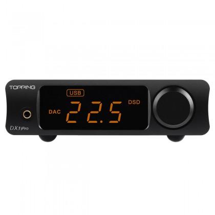 TOPPING DX3 PRO V2 DAC 2x AK4493EQ Headphone Amplifier TPA6120A2 Bluetooth LDAC XMOS XU208 32bit 768kHz DSD512 Black