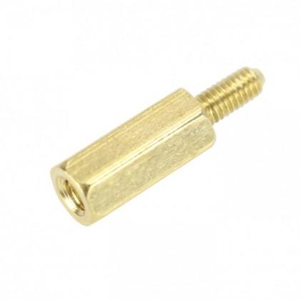 Entretoise Laiton M2.5x12mm Mâle / Femelle (x10)