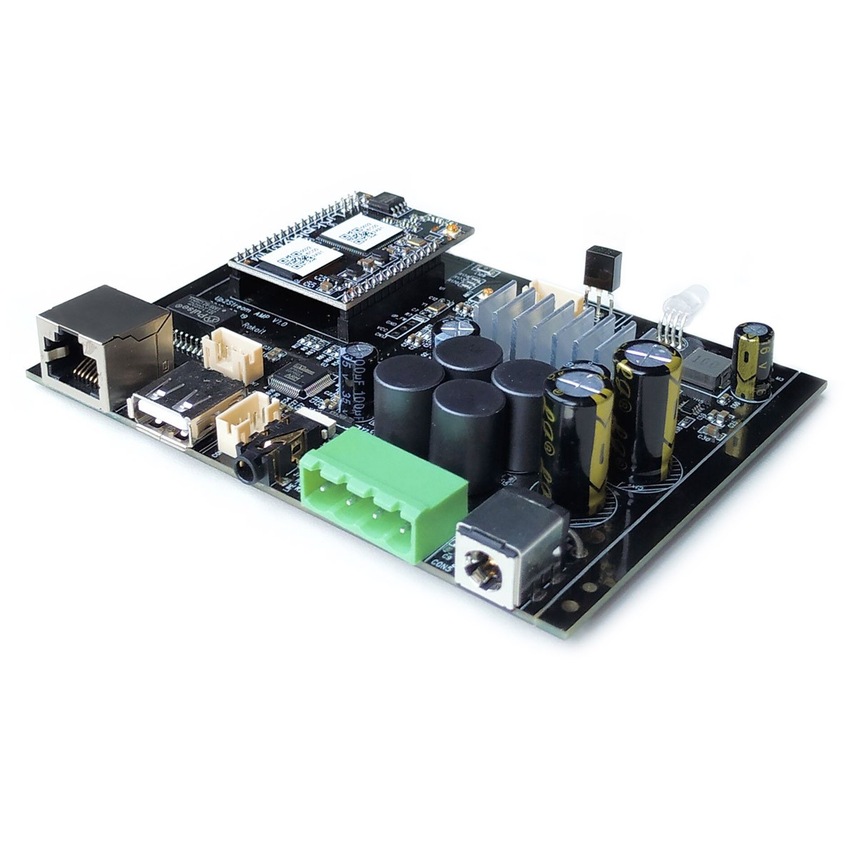 ARYLIC UP2STREAM AMP PRO D6 Module Amplificateur WiFi DLNA Bluetooth 5.0 2x50W 4 Ohm 24bit 192kHz