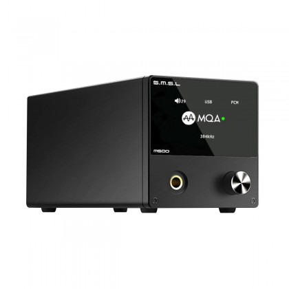 SMSL M500 DAC ES9038Pro Headphone Amplifier XMOS XU216 MQA 32bit 768kHz DSD512