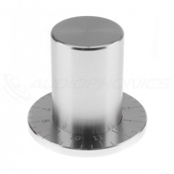 Knob Aluminium Graduated D Shaft 38x33mm Ø6mm