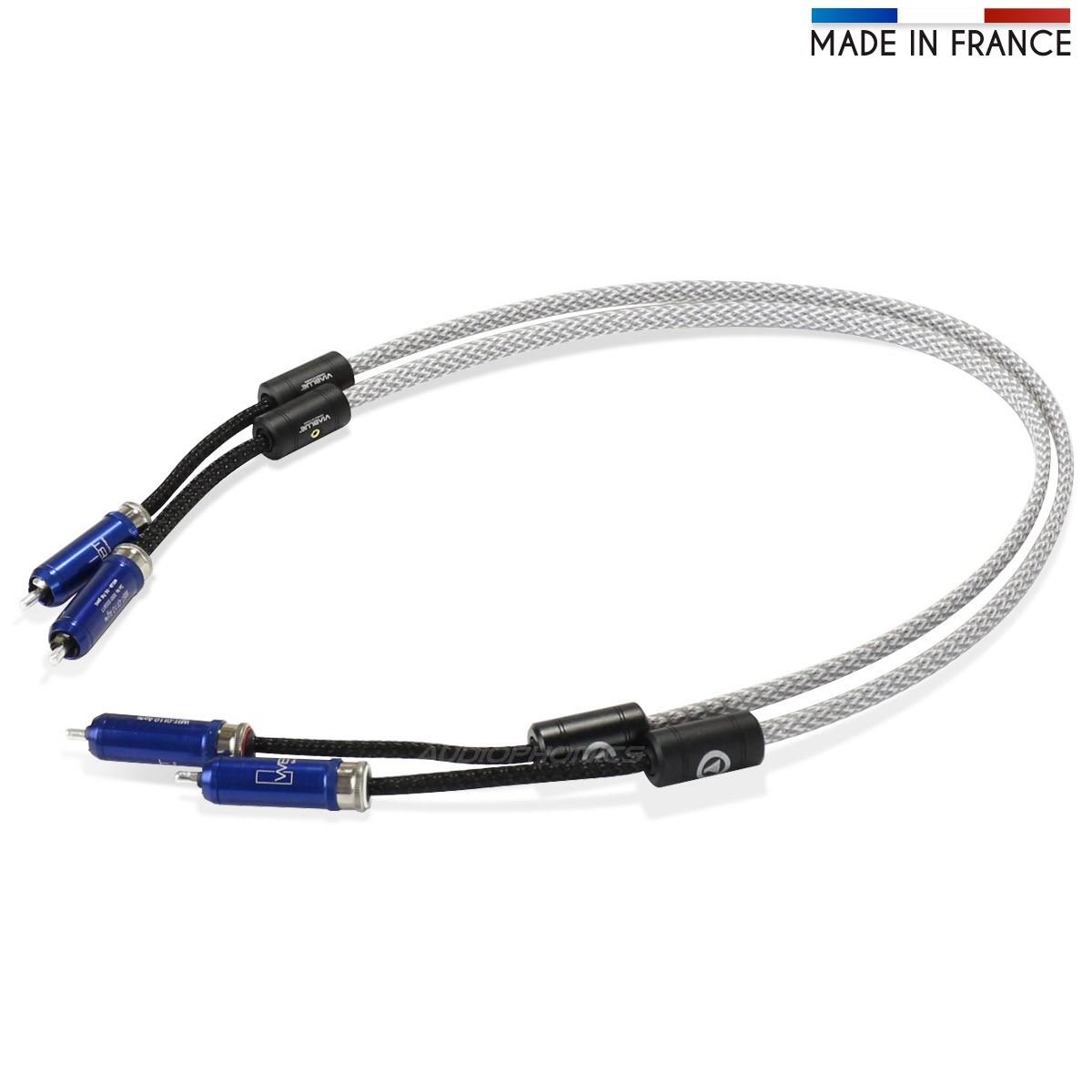 AUDIOPHONICS ARGOS8 Câble de Modulation RCA Argent Pur PTFE WBT-0110Ag 0.75m