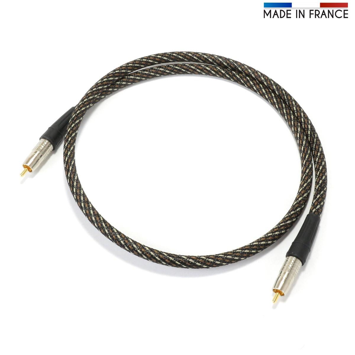 AUDIOPHONICS CANARE Câble Numérique Coaxial 75ohm RCA-RCA 3m