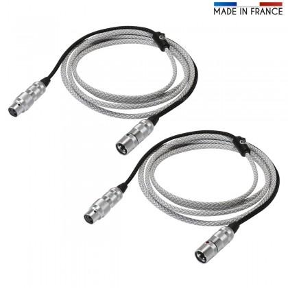 AUDIOPHONICS Argos8-XLR DM Interconnect Cable Pure Silver PTFE Oyaide Focus 2.5m
