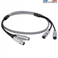 Audiophonics Argos8-XLR Câble de modulation Argent Pur PTFE Oyaide Focus 1.5m
