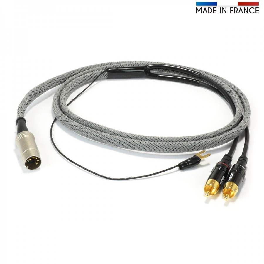 AUDIOPHONICS 5 Pin DIN to Stereo RCA Cable with Ground Wire OFC Copper Gold  Plated 1.5m - AudiophonicsAudiophonics