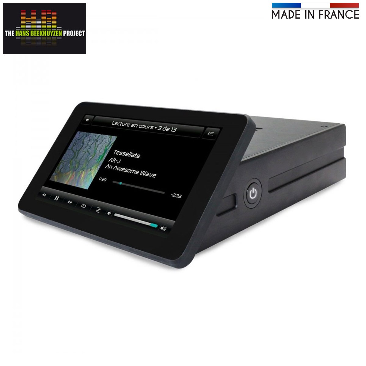 RASPTOUCH DIGIONE Touch Screen Streamer with Digital Output WM8805 Black