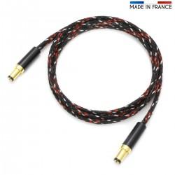 AUDIOPHONICS Câble Jack DC vers Jack DC 5.5/2.1mm pour Alimentation Linéaire 0.5mm² 0.5m