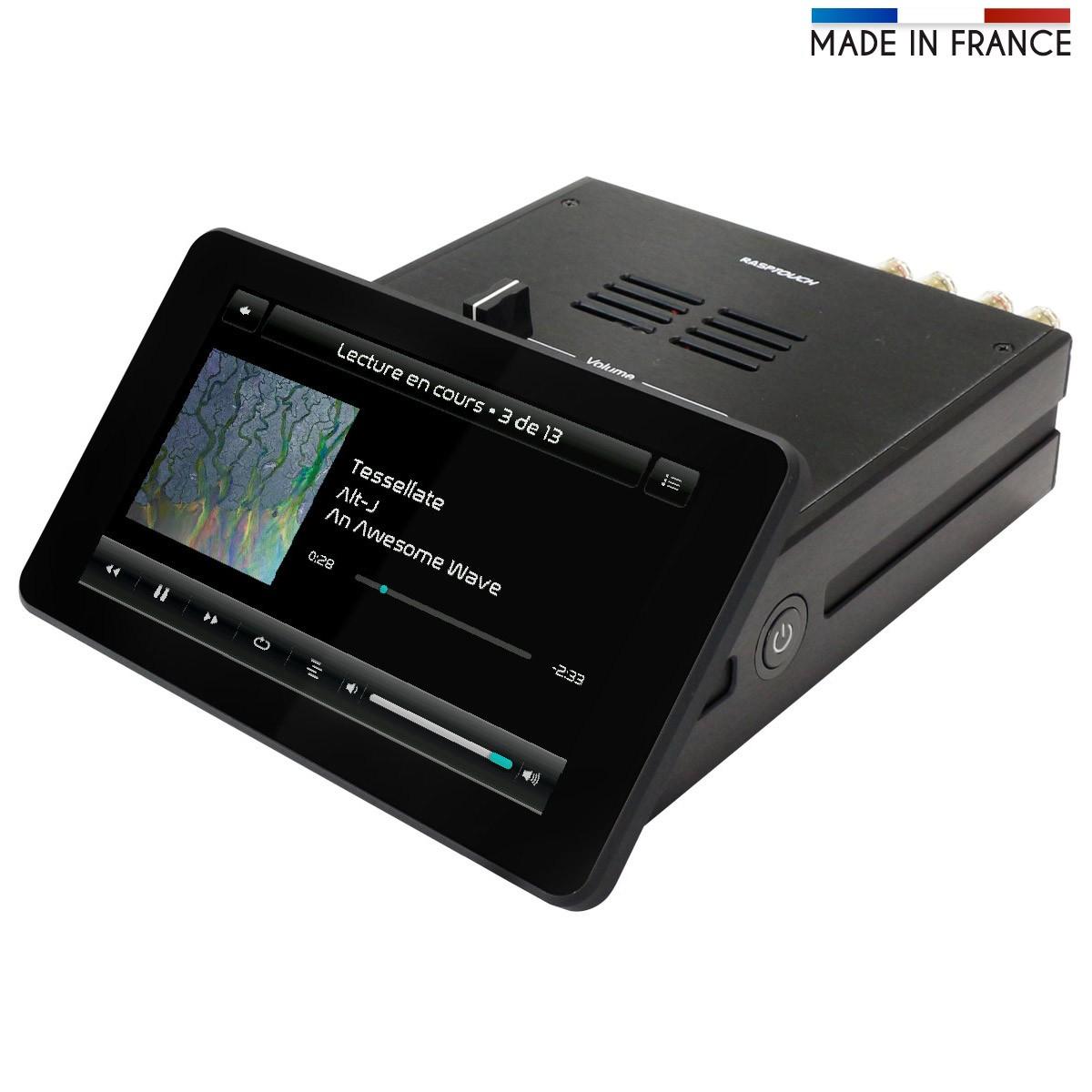 RASPTOUCH AMP Lecteur Réseau / Amplificateur ES9023 & TPA3118 2X30W
