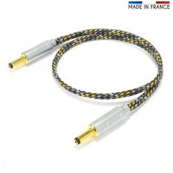 ELECAUDIO JDC-121 Câble d'Alimentation Jack DC 2.1mm vers Jack DC 2.1mm 1m