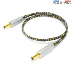 AUDIOPHONICS JDC-121 Câble Alimentation Jack DC 2.1mm vers Jack DC 2.1mm 0.5m