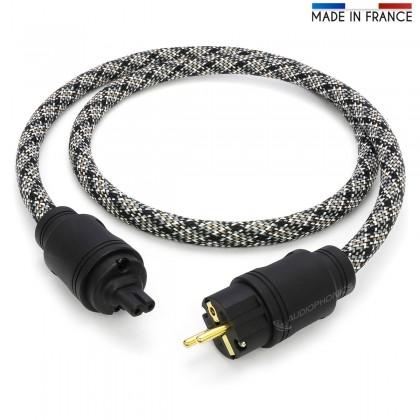 ELECAUDIO Silver Line Câble Secteur OCC 3x2.5mm² C7 1.5m