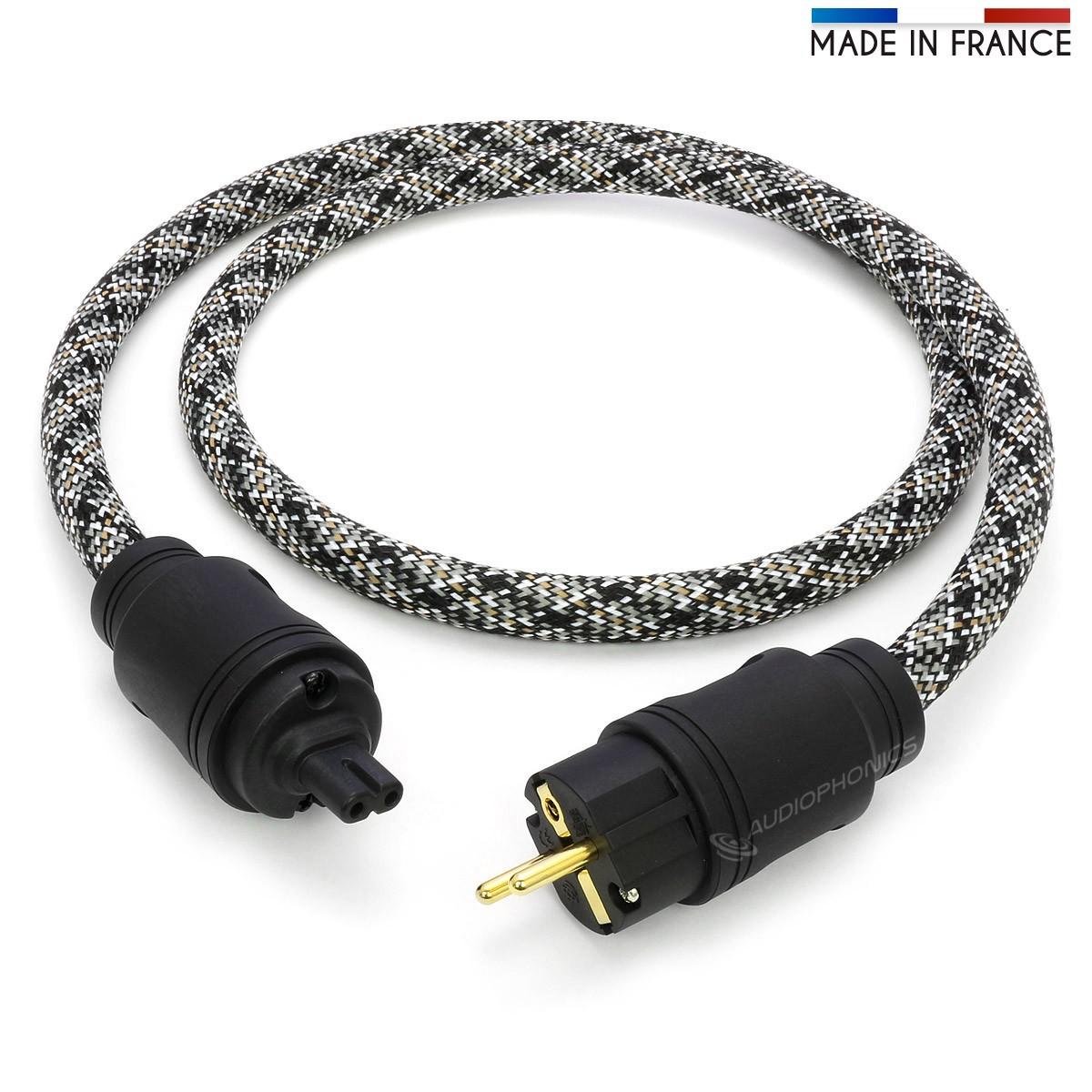ELECAUDIO SILVER LINE MKII Câble Secteur OFC 3x3.5mm² C7 1.5m
