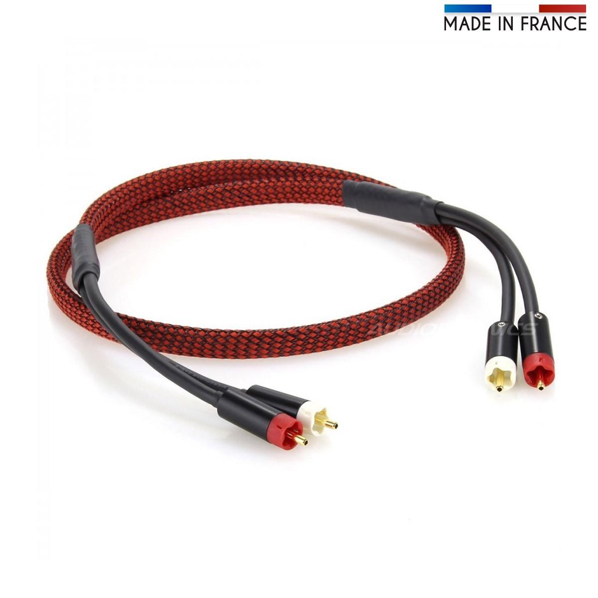 AUDIOPHONICS MOGAMI 2549 Câble de Modulation Stéréo RCA Cuivre Tellurium 1.2m