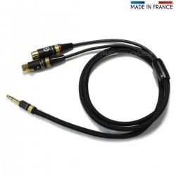 AUDIOPHONICS VIABLUE MOGAMI Câble Jack 6.35 vers Double XLR Femelles 1.5m