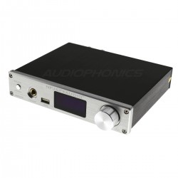FX-AUDIO D802E FDA Amplifier STA326 Streamer WiFi DLNA Bluetooth 5.0 Multiroom 2x80W / 4 Ohm Silver