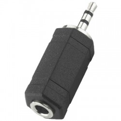 2.5mm stereo male to 3.5mm stereo female Jack Plug Adapter