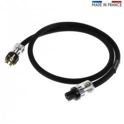 AUDIOPHONICS STEALTH Câble Secteur Schuko C15 Cuivre OFC Blindé 3x3.5mm² 1.5m