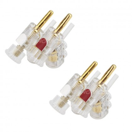 WBT-0610Cu Banana Plug Copper Ø 10mm (Set x4)