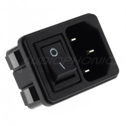 IEC C14 Plug with ON-OFF Switch 250V 10A Black