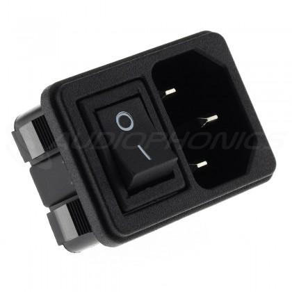 Embase IEC C14 avec Interrupteur à Bascule ON-OFF 250V 10A Noir