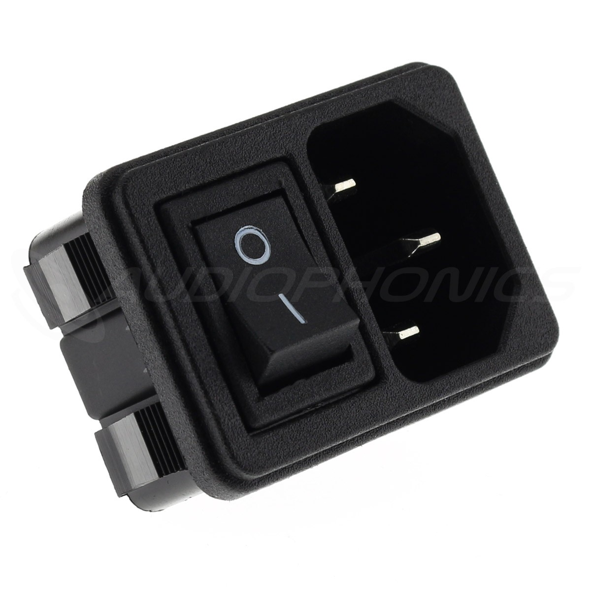 IEC C14 Plug with ON-OFF Switch 250V 10A Black