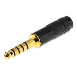 Jack 4.4mm TRRRS Connector Gold Plated Ø6mm Noir (Unit)