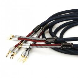 VIBORG PRIME SP/1 Câble d'Enceintes Fourches Cuivre Pur Plaqué Argent 2.5m (La paire)