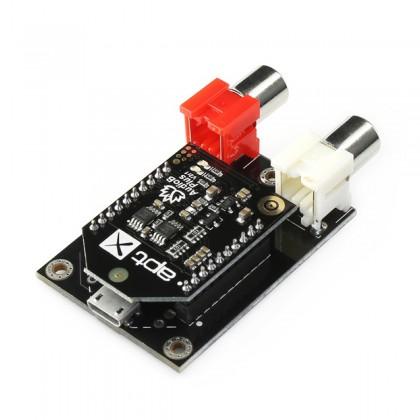 TINYSINE AUDIO-B PLUS Module Récepteur Bluetooth 4.0 aptX Mono RCA