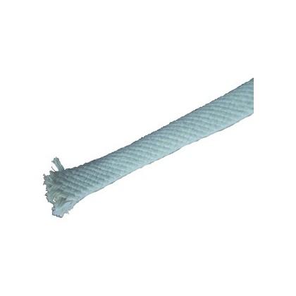 Gaine Coton naturel pour câble Dia. 09 - 13mm blanche