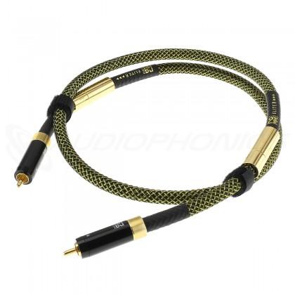 RAMM AUDIO ELITE8 PREMIUM Câbles RCA Cuivre OCC Cryo NBU Masse Flottante Plaqué Or 1m (La paire)