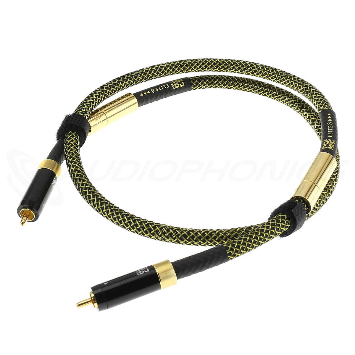 RAMM AUDIO ELITE8 PREMIUM RCA Cables OCC Copper Cryo NBU Floating Ground Gold Plated 1m (Pair)