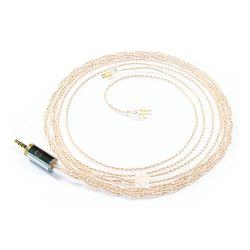 OEAUDIO 2DUALOFC Câble Casque Jack 2.5mm vers CIEM 0.78mm Symétrique Cuivre OFC PTFE Ø1.5mm 1.2m