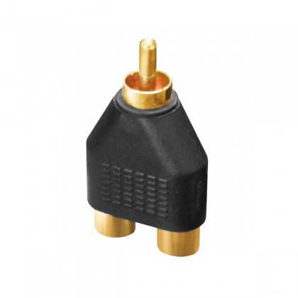 DYNAVOX 1x Male RCA to 2x Female Adapter Gold Plated