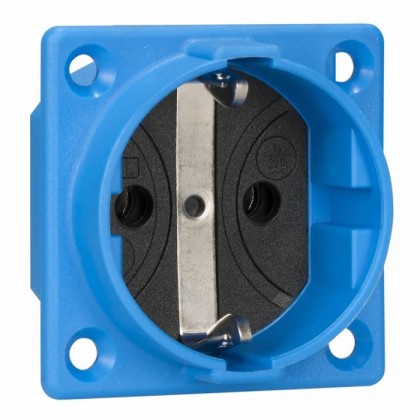 Schuko inlet 16A IP20 Blue
