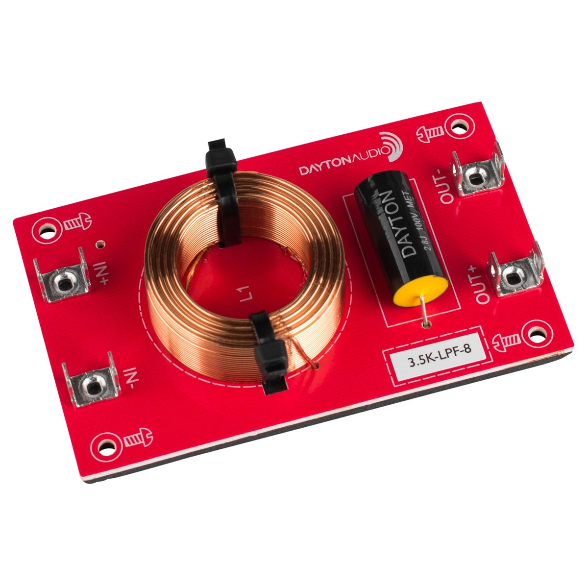DAYTON AUDIO 3.5K-LPF-8 Filtre Passe-Bas pour Haut-Parleurs 3500Hz 12dB/Octave 8 Ohm